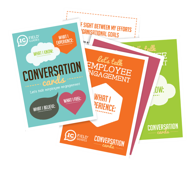 Internal comms Conversation Cards by H&H
