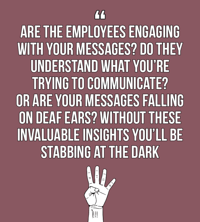 Internal comms best practice: are the employees engaging with your messages? Do they understand what you're trying to communicate? Or are your messages falling on deaf ears? Without these invaluable insights you'll be stabbing at the dark