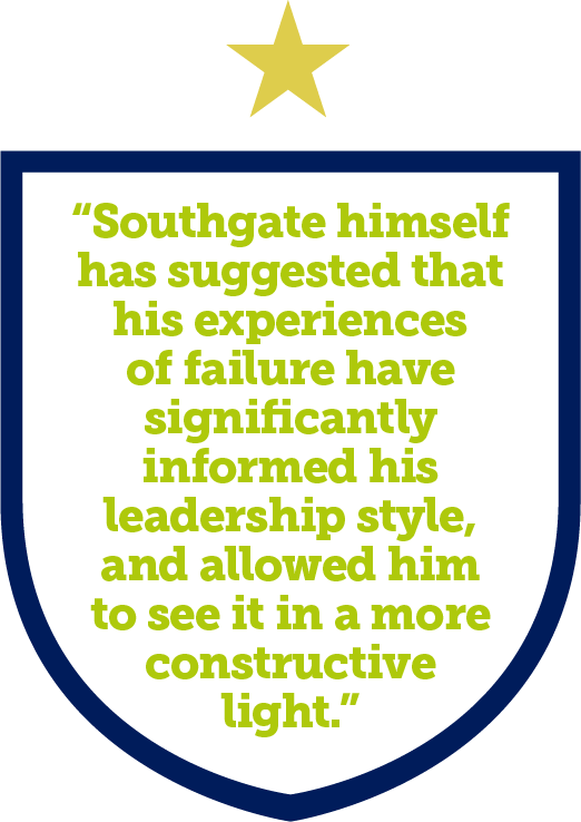 Southgate himself has suggested that his experiences of failure have significantly informed his leadership style