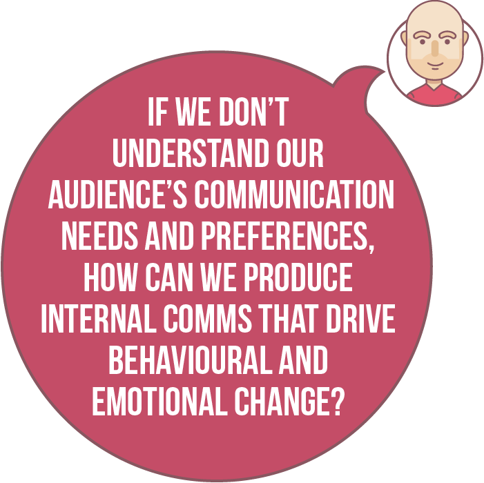 If we don't understand our audience's communication needs and preferences, how can we produce internal comms that drive behavioural and emotional change?