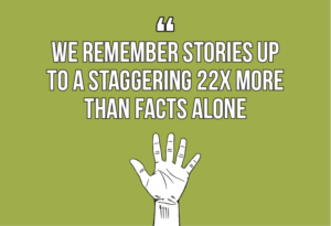 7 internal comms best practices every internal communicator should know quote 5: Research shows that we remember stories up to a staggering 22x more than straight-up facts
