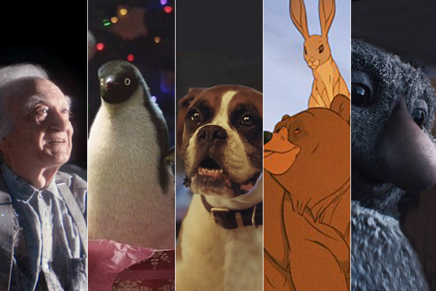Stills from the John Lewis Christmas Adverts