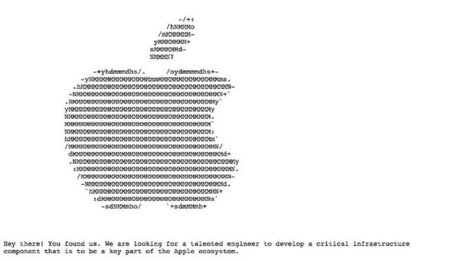 content apple job ad