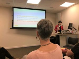 What we've been getting up to at the IoIC Internal Comms Humber Hubs – and why you should come along, Image 3: presentation by our Helen