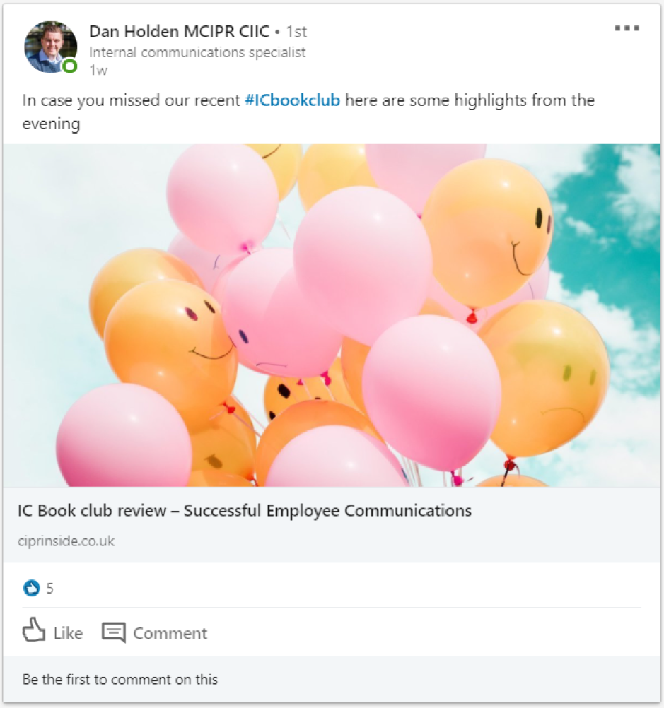 7 internal communications LinkedIn Groups you should join today, Dan Holden MCIPR CIIC