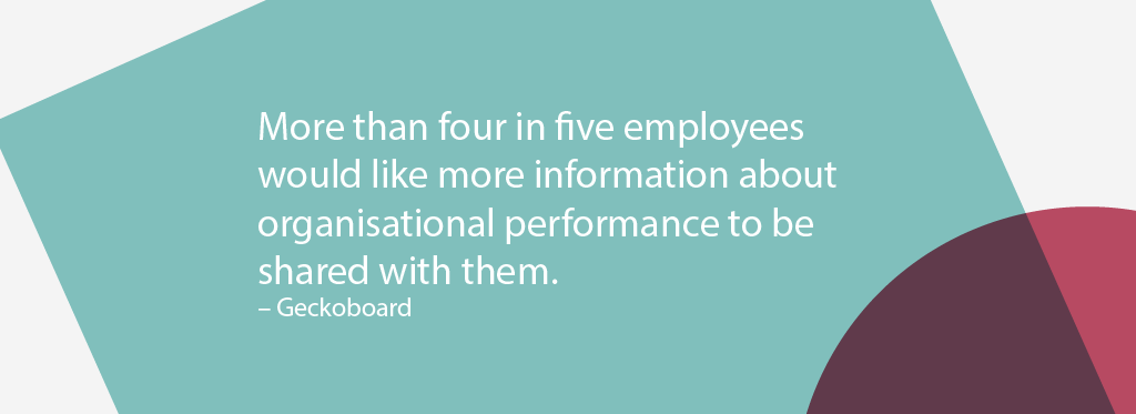 More than four in five employees would like more information about organisational performance to be shared with them.