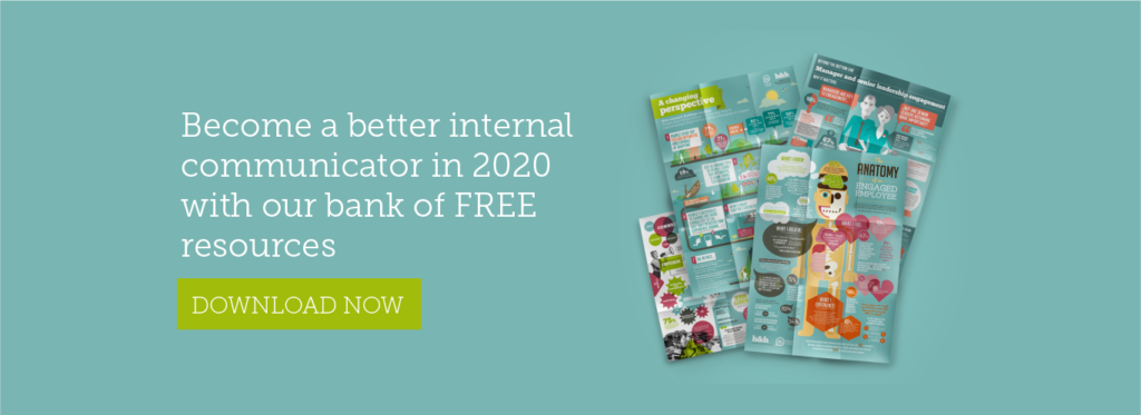 Become a better internal communicator in 2020 with our bank of free resources. Click here to download now.