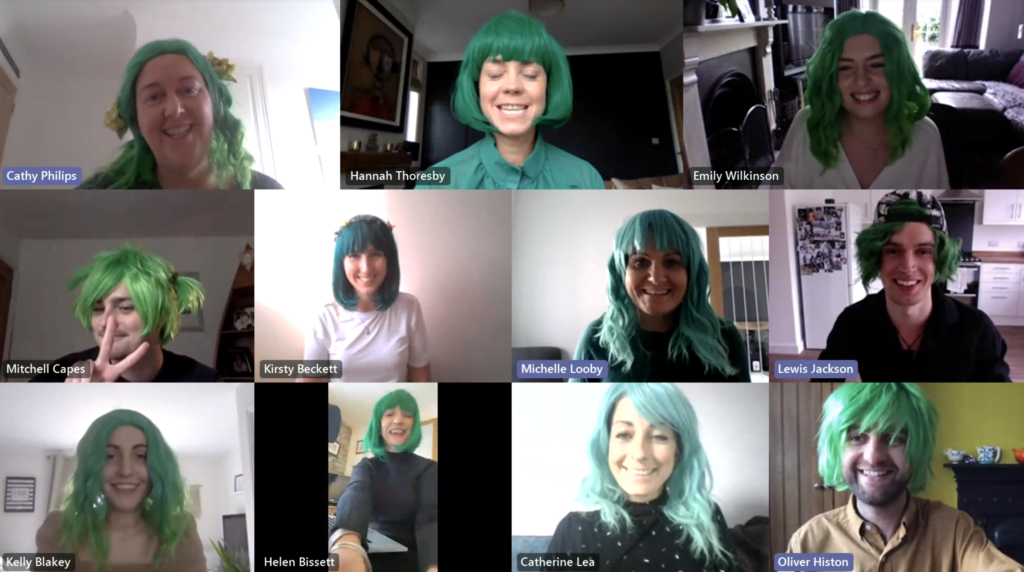 H&H in their green wigs